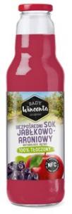 SOK JABŁKOWO-ARONIOWY BUTELKA 750ml SADY WINCENTA