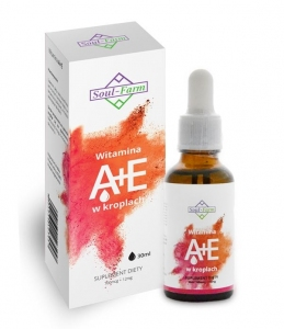 WITAMINA A+E W KROPLACH (700mcg+12mg) 30 ml - SOUL FARM