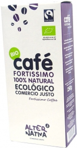 KAWA MIELONA ARABICA/ROBUSTA FORTISSIMO FAIR TRADE BIO 250 g -  ALTERNATIVA