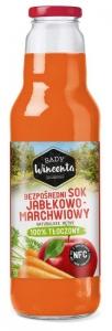 SOK JABŁKOWO-MARCHWIOWY BUTELKA 750ml SADY WINCENTA