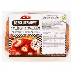 Chleb świeży z maczkiem 350G Bezglutenowy INCOLA