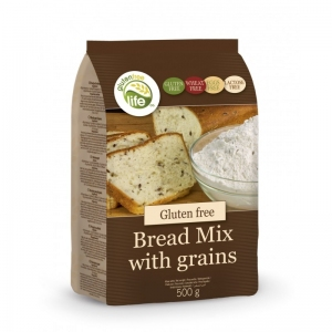 Bread Mix Wieloziarnista Mieszanka bezglutenowa na chleb 500g - GFL