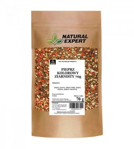 PIEPRZ KOLOROWY ZIARNISTY 70 g - NATURAL EXPERT
