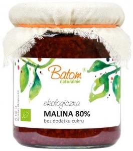 MALINA 80% B/C BIO 260 g - BATOM