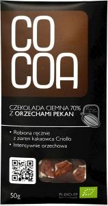 CZEKOLADA GORZKA 70% Z ORZECHAMI PEKAN BIO 50 g - COCOA