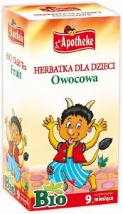 HERBATKA DLA DZIECI - OWOCOWA BIO 20 x 2 g - APOTHEKE