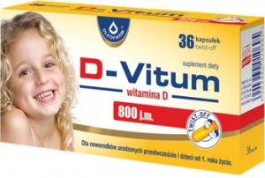 D-VITUM WITAMINA D DLA NIEMOWLĄT 800 j.m. (36 kapsułek) - OLEOFARM