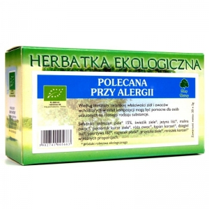 Herbatka polecana przy alergii EKO 20x2g