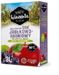 SOK JABŁKOWO-ARONIOWY (karton) 3L - SADY WINCENTA