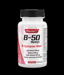 B-50 METHYL B-COMPLEX MAX+ 60 kaps. PHARMOVIT