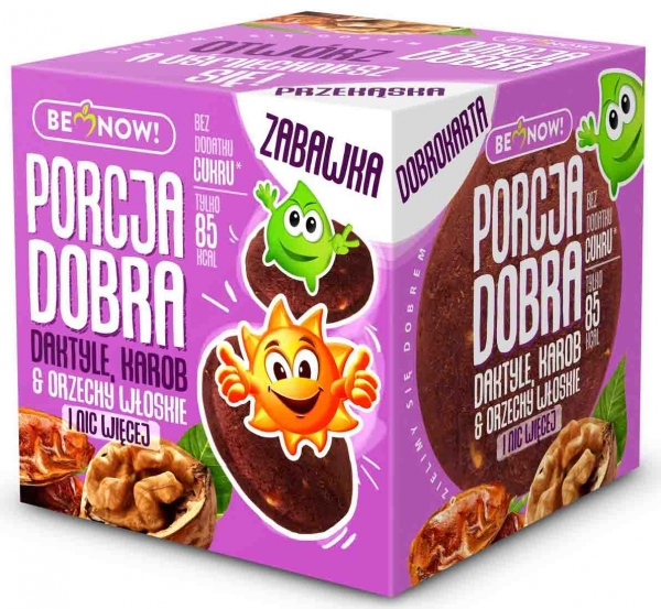 Kostka Porcja Dobra z Niespodzianką Daktylowo - Orzechowa z Karobem