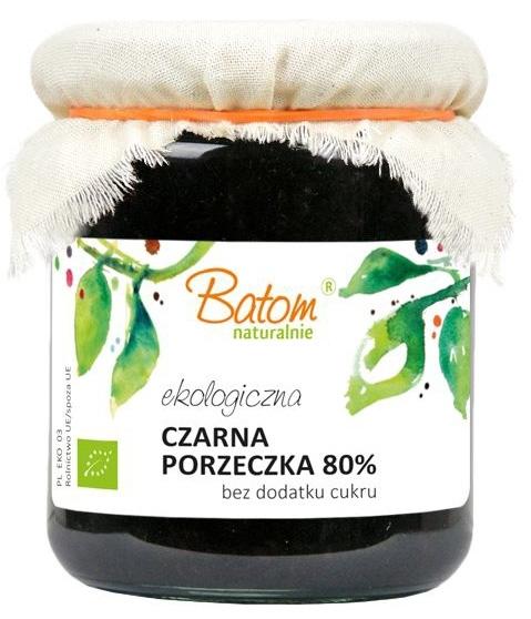 CZARNA PORZECZKA 80% B/C BIO 260 g - BATOM