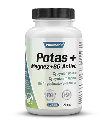 POTAS + MAGENZ + B6 ACTIVE 120kaps. - PHARMOVIT