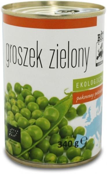 GROSZEK ZIELONY KONSERWOWY BIO 340 g (270 g) - BIO EUROPA